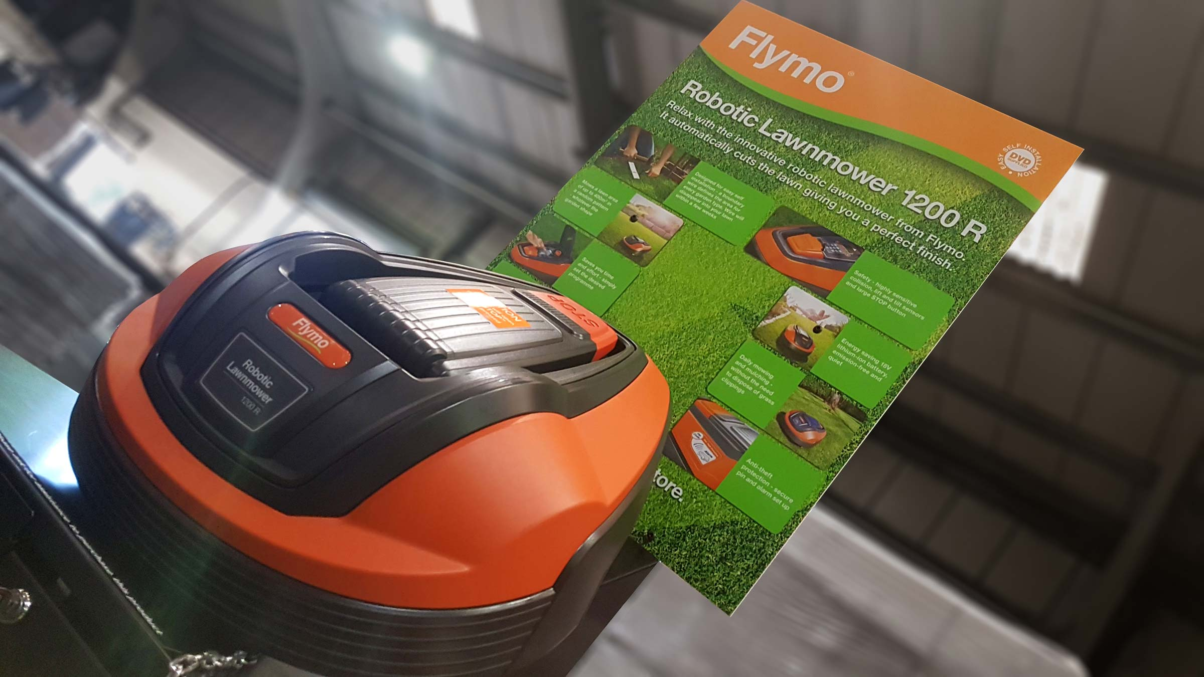 Flymo robotic lawnmower displays set for B&Q